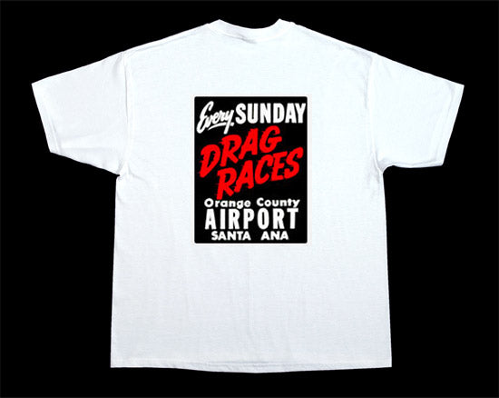 Santa Ana Airport Drags White Cotton T-Shirt