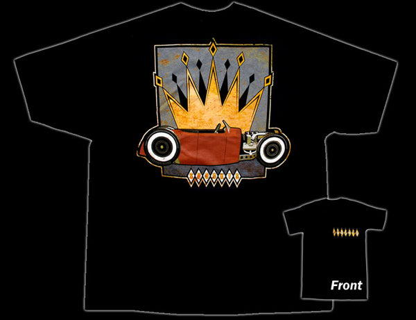 Snoooky's Crown Hot Rod Black T-Shirt - Nitroactive.net