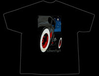 Snookys Twilight Hot Rod Black T Shirt Back