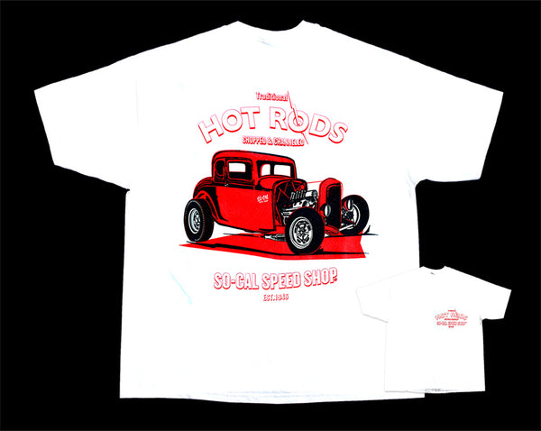 Five-Window Coupe So-Cal Speed Shop T-Shirt - White - Nitroactive.net