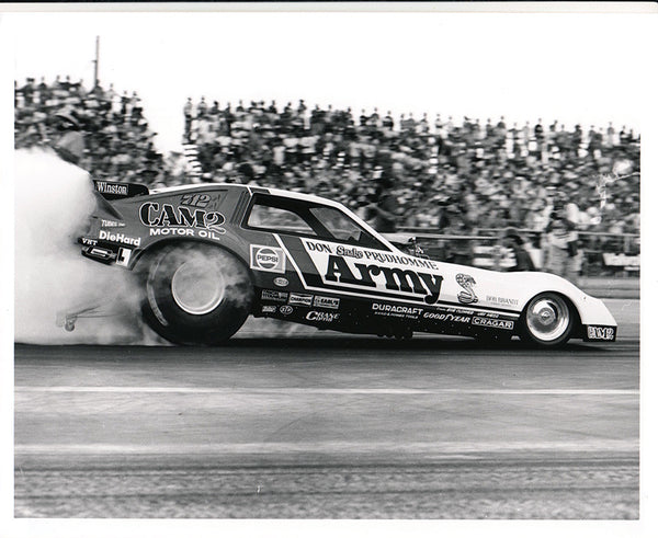 Don The Snake Prudhomme Army Funny Car Burnout 8X10 Photo