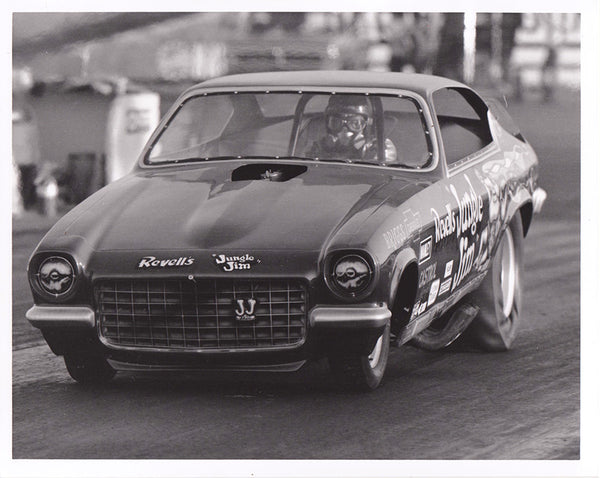 Jungle Jim Liberman Vega Funny Car 8x10 B&W Photo