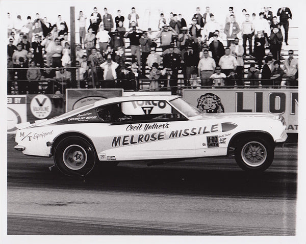 Cecil Youther's Melrose Missile Funny Car Black & White Photo
