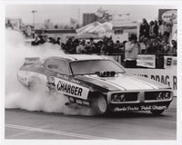 Pabst Charger Funny Car Burnout B&W Photo