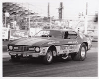Mickey Thompson Mustang Funny Car Black & White Photo