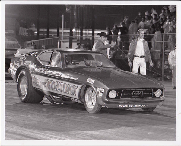 Shirley Muldowney Mustang Funny Car 8x10 Black and White Photo