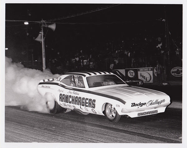 Ramchargers Dodge Challenger Funny Car 8x10 Black & White Photo