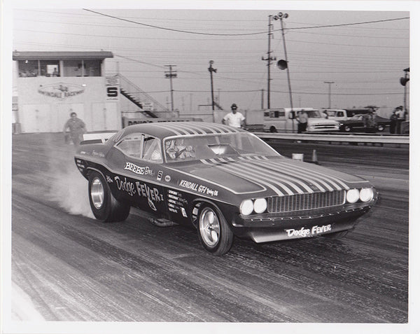 Beebe Brothers Dodge Fever II Cuda Funny Car 8x10 Black & White Photo