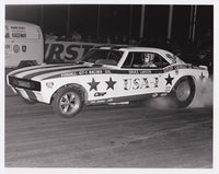 Bruce Larson USA-1 Camaro Funny Car 8x10 Black & White Photo