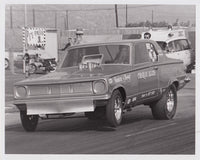 Charlie Allen Early Dodge Dart Funny Car 8x10 Black & White Photo