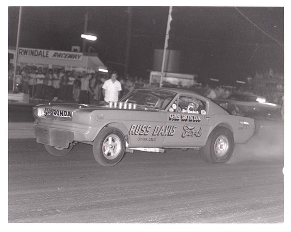 Gas Ronda Mustang Funny Car 8x10 Black & White Photo