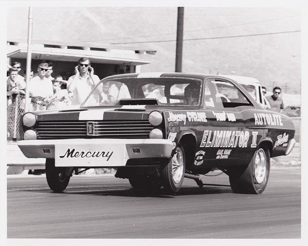 Dyno Don Nicholson Eliminator II Mercury Cyclone Funny Car 8x10 Black and White Photo