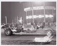 Vintage Beebe & Mulligan Top Fuel Dragster OCIR Black and White Photo