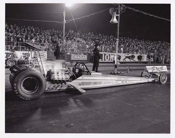 Vintage Jerry Ruth Top Fuel Dragster 8x10 Black and White Photo