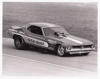 Vintage Don Schumacher 'Cuda Stardust Funny Car Black and White 8x10 Photo