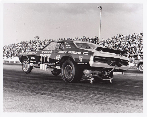 Vintage Kenz & Leslie Cougar Funny Car 8x10 Black and White Photo