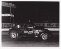 Vintage Durachrome Bug VW Funny Car 8x10 Black and White Photo