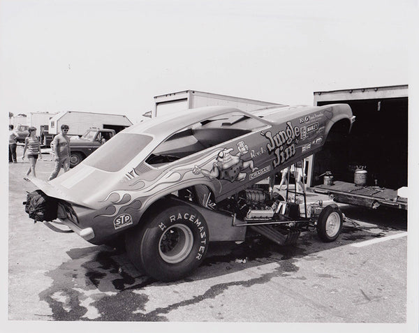 Vintage Jungle Jim Vega Funny Car 8x10 Black and White Photo