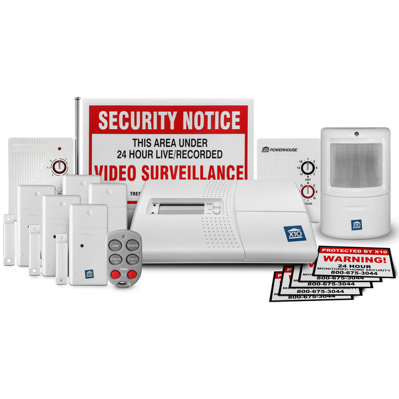 X10 INTERMEDIATE 16 Piece Security System with SR751 Range Extender