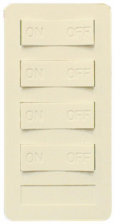 XP4A-I-NS NEW STYLE 4 BUTTON KEYPAD, 3 ON/OFF, 1 ALL ON/ALL, IVORY