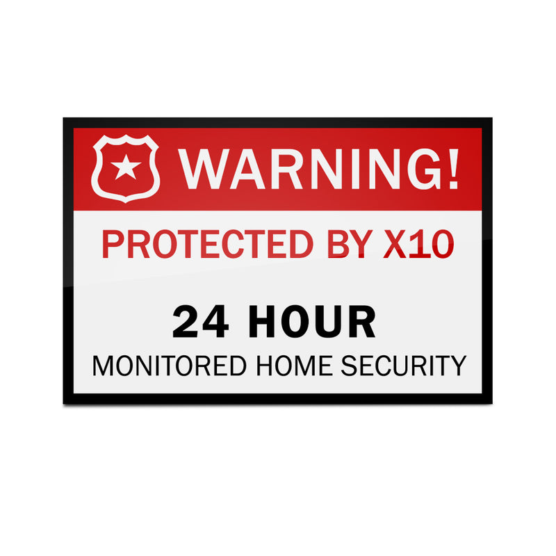X10 Security Sticker