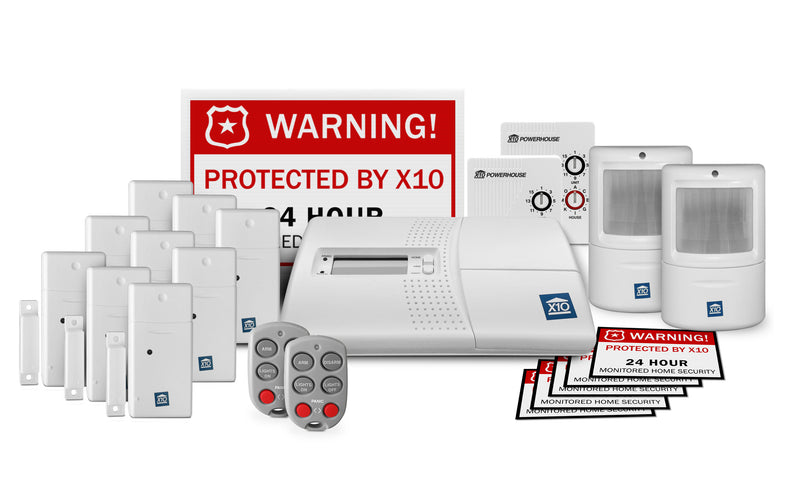 X10 LARGE 22 Piece X10 Security Kit - No Monthly Fees!