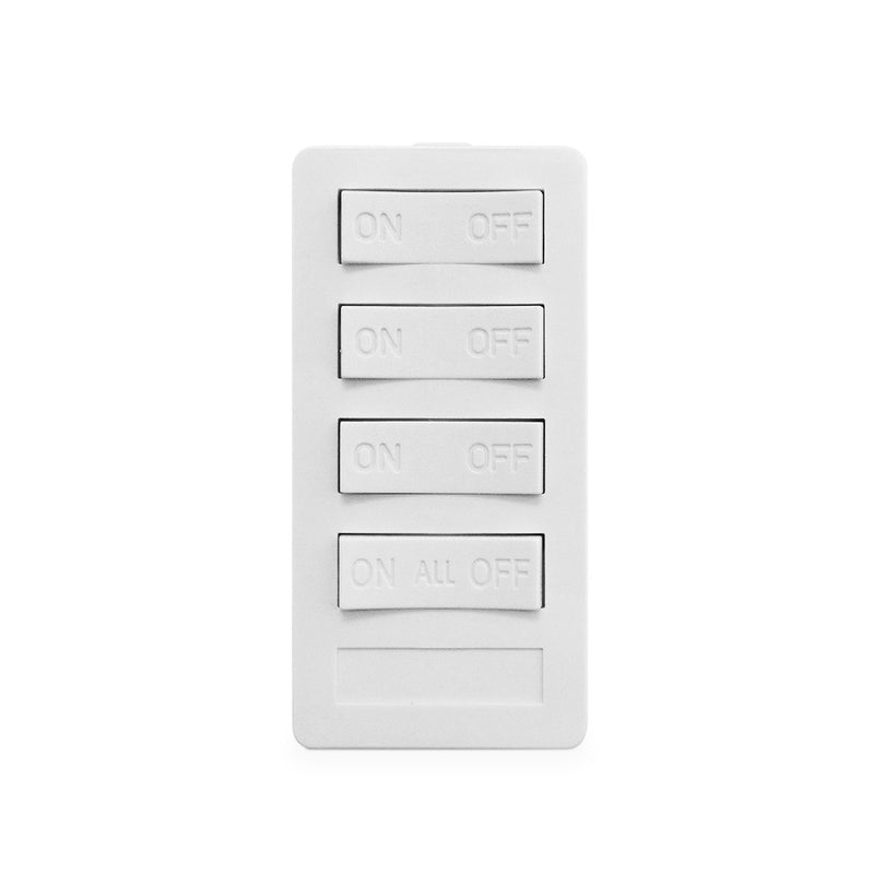 XP4A-W-NS NEW STYLE 4 BUTTON KEYPAD, 3 ON/OFF, 3 SEQUENCED CODES, 1 ALL ON/ALL OFF, WHITE XP4A Version A