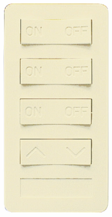 XP4D-I-NS NEW STYLE 4 BUTTON KEYPAD, 3 ON/OFF, 1 DIM, IVORY XP4D Version A - X10 PRO