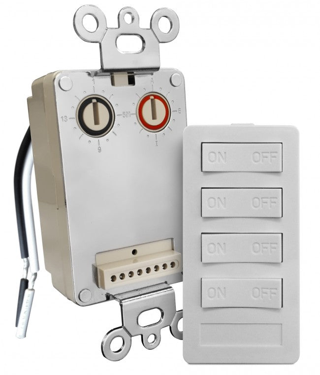 XPT4-W-NS Wall Transmitter w 4 Button Keypad, 4 on/off, white (New Style) XPT4 Version A