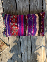 Load image into Gallery viewer, Purple Turkish rug pillow
