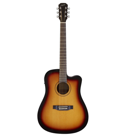 Austin AA25-DSEC SB Dreadnought Acoustic Electric Guitar