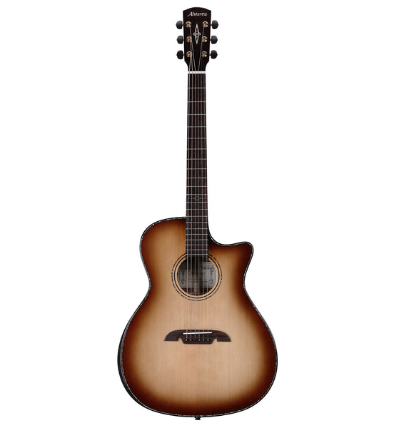 Alvarez Masterworks Elite Series MGA70WCE AR SHB Grand Auditorium Acoustic Electric Guitar w/Armrest