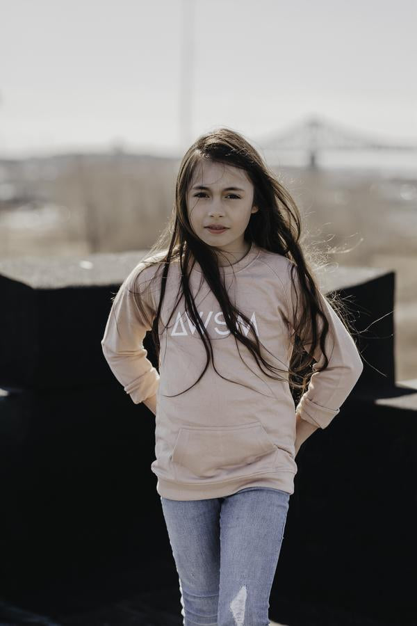 CREWNECK DUSTY ROSE