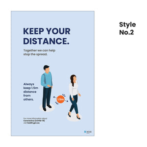 Our A-frame signs - Keep your distance (5282793324700)