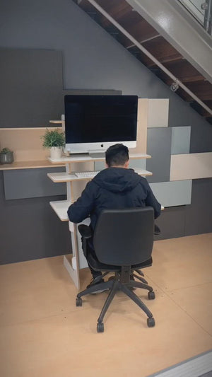 Load and play video in Gallery viewer, Standing and sitting desk