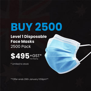Level 1 Disposable Face Mask - 2500 Pack