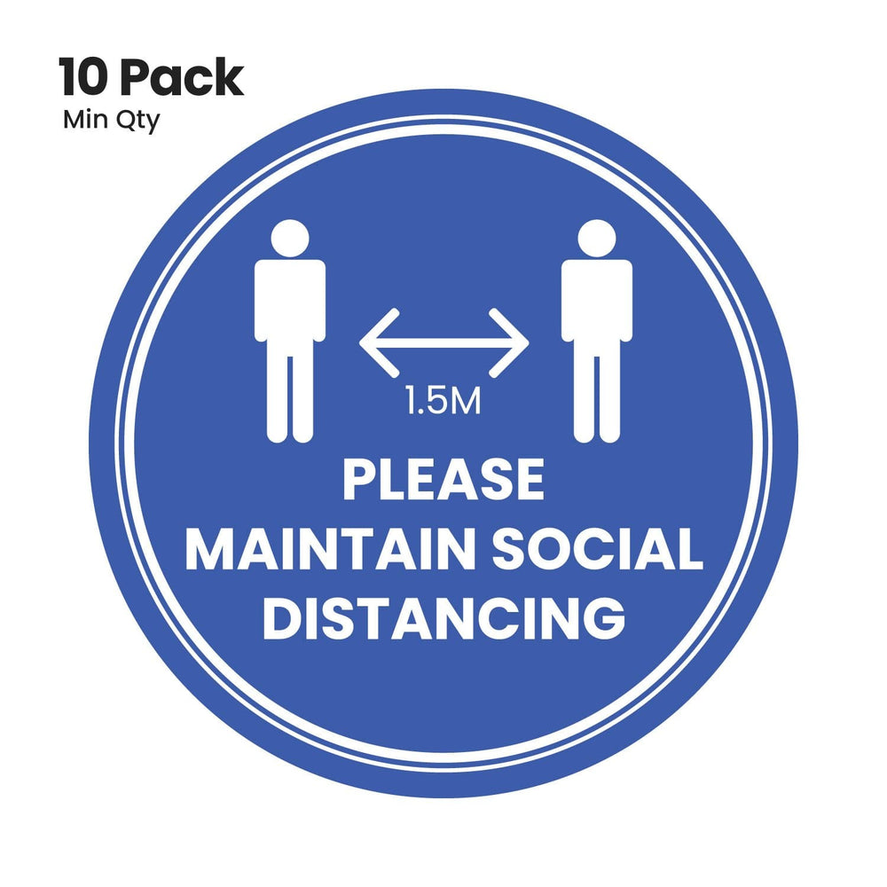 Social distancing floor stickers (5293364478108)