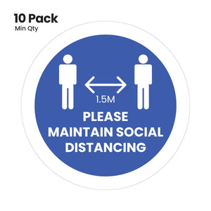 Social distancing floor stickers (5293374439580)