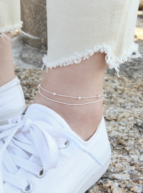 Eliza Double Chain Anklet