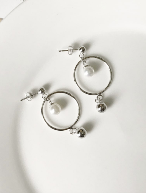 Charli Round Drop Earrings