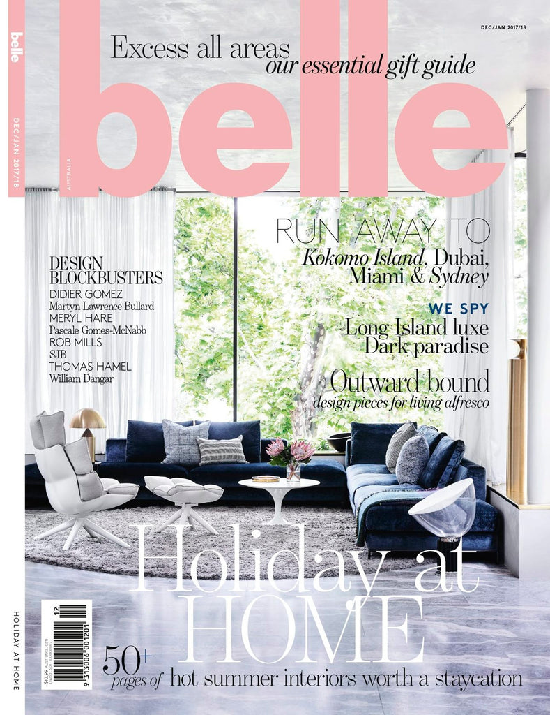 BELLE MAGAZINE DECEMBER 2017 COVER
