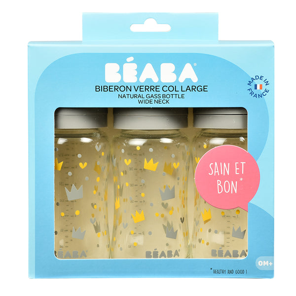 Beaba Glass Bottle - Triple Pack (1)