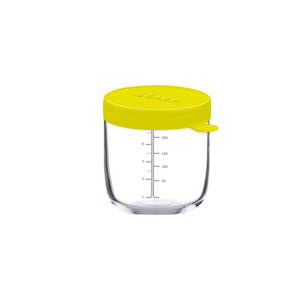 Beaba Glass 250ml Conservation Jar - Neon