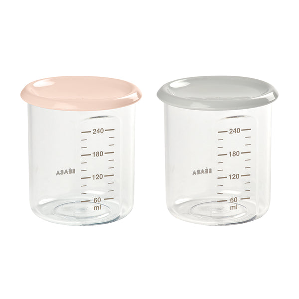 Set of 2 Maxi Portion 240ml - Pink/Grey