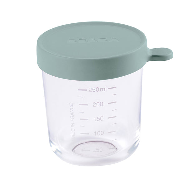 Beaba Glass 250ml Conservation Jar - Eucalyptus