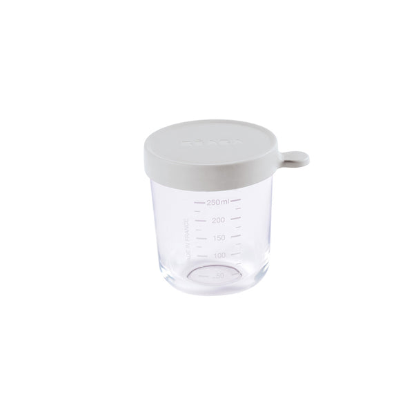 Beaba Glass 250ml Conservation Jar - Grey