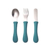 Beaba Stainless Steel Training Cutlery - Blue
