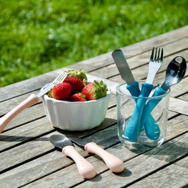 Beaba Stainless Steel Training Cutlery - Nude (1)