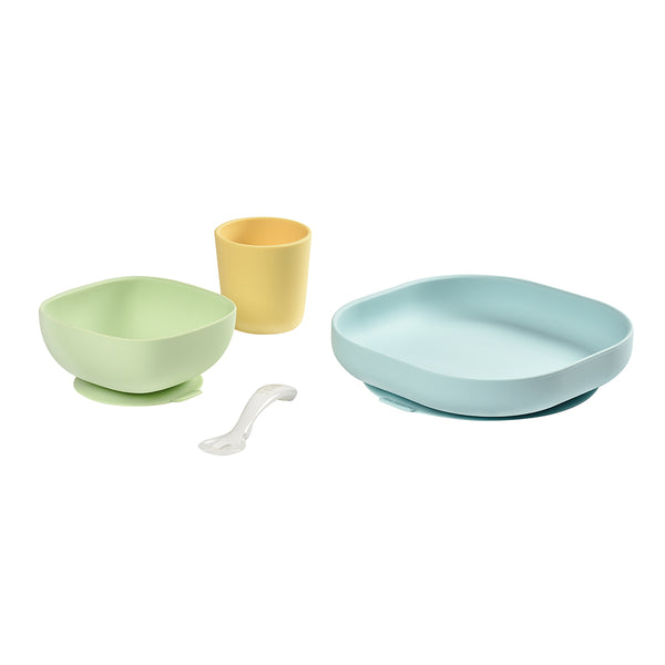 BEABA Silicone Meal Set - Yellow (1)