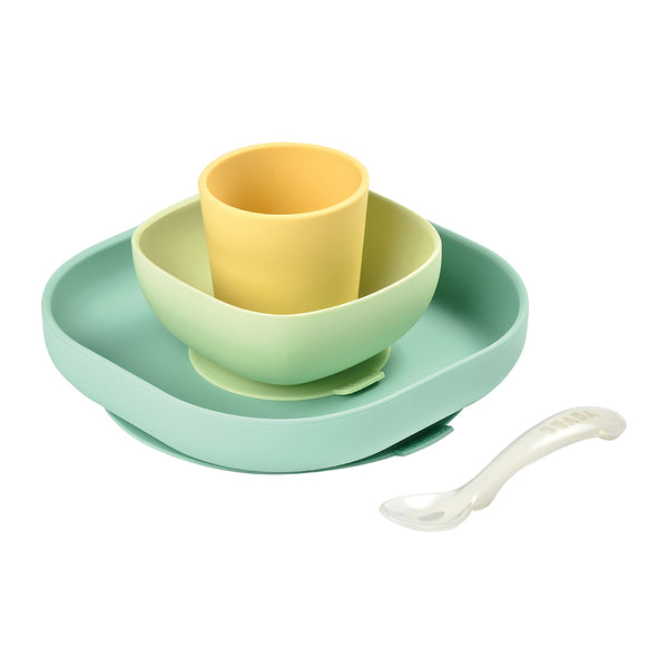 BEABA Silicone Meal Set - Yellow